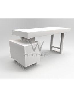 Avana Series; Office Table (White)