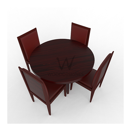 Aden Dining Set Red Brown Wooddesignes