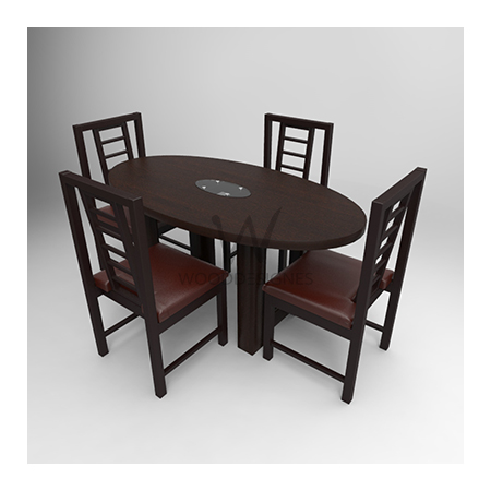 Sika Series Seater Oval Dining SetDarkbrown Wooddesignes - Oval dining table for 4