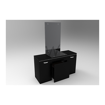 Amelia Series; Vanity Table (Black)