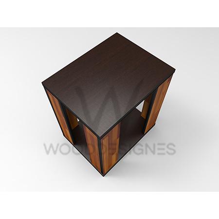 Side Table Teak.Jella Series Side Table Teak And Dark Brown