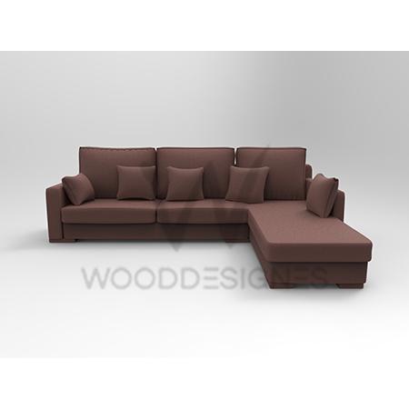 Sasa Series L Shaped Sofa Brown Wooddesignes
